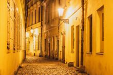 Narrow Cobbled Street Illumina...