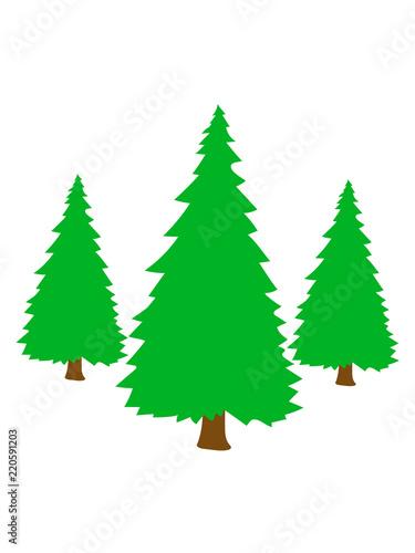 Clipart Weihnachten.3 Bäume Silhouette Weihnachtsbaum Weihnachten Nikolaus Winter