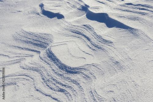 Fotografie, Obraz  wavy drifts with snow