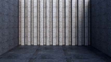 3d rendering of concrete wall