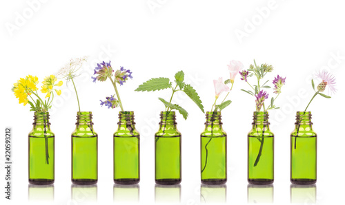 Photo  Natural remedies, aromatherapy - bottle
