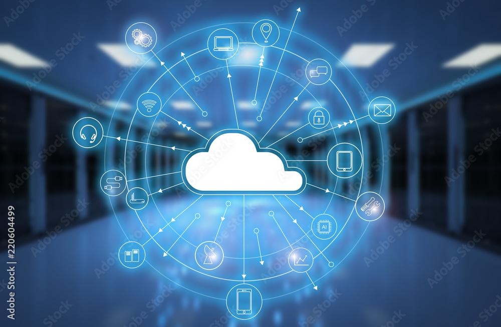 Fototapeta cloud computing technology