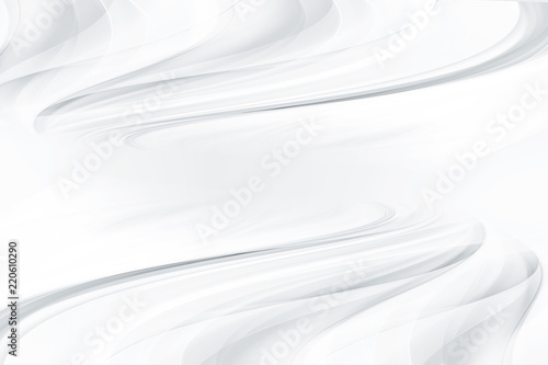 Abstract prespective background with smooth and soft swirl white waves Wallpaper Mural