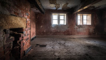 Old Ruined Abandoned House Wit...