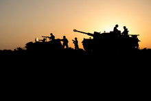 War Concept. Military Silhouet...