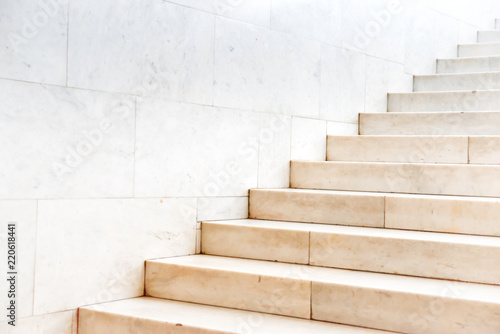 Photo Stands Stairs Marble staircase with stone stairs in building