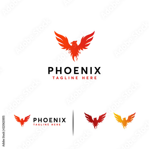 Photo  Majesty Phoenix logo designs concept vector, Flying Eagle logo template