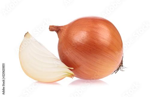 Fototapeta slice onion isolated on white background obraz