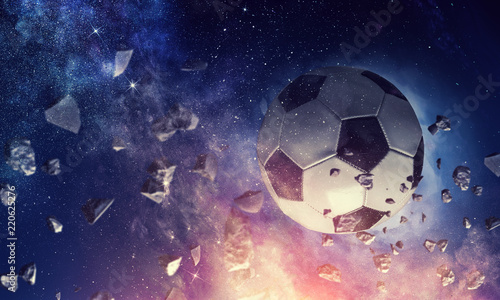 Soccer ball in cosmos - 220625276