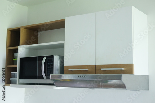Photo Interior design of clean modern kitchen