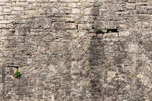 Cuadros en Lienzo old castle wall background / stone wall / brick wall / Steinwand einer alten Bur