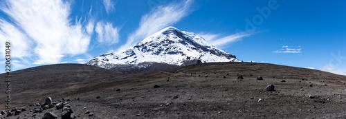 In de dag Zuid-Amerika land Panorama du volcan Chimborazo, Équateur
