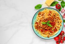 Pasta Spaghetti Bolognese On A...
