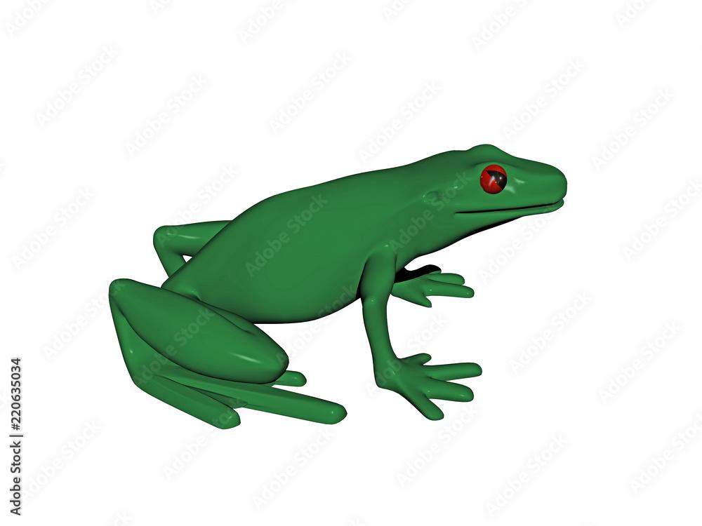 Grüner Laubfrosch mit roten Augen