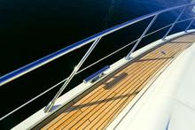 Teak Deck On A Yacht