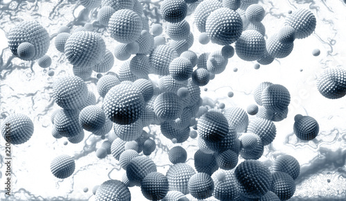 Fototapeta  Nanoparticles - Nanomicelles - Abstract Illustration