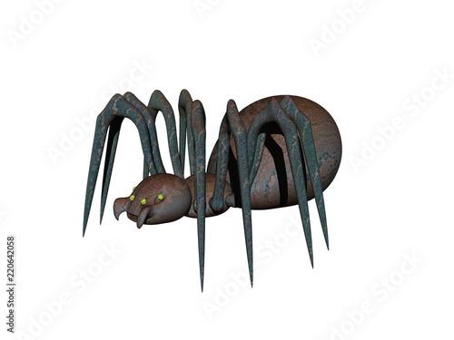 Gruselige Spinne Canvas Print