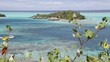 in polynesia bora bora the view in the coastline lagoon and resort like paradise concept and relax