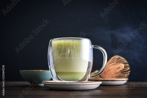 Fotomural Matcha green tea latte