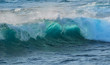 details of breaking hawaiian waves