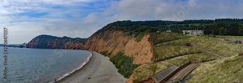 The Jurassic coast, Sidmouth , Devon, UK Canvas Print