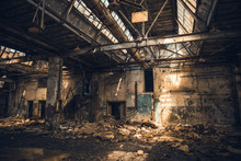 Abandoned Ruined Industrial Wa...