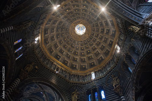 Fotografie, Obraz  Views of the architectural details of the Siena Duomo