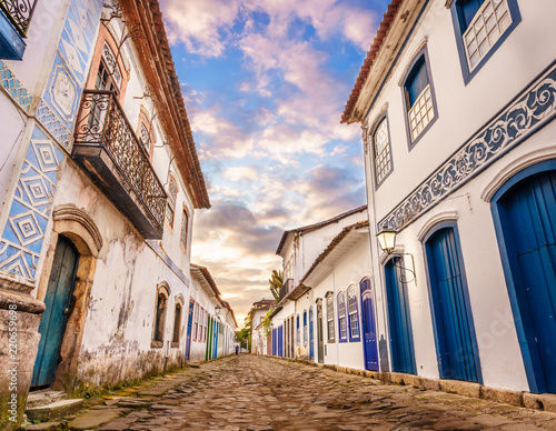 Canvas Prints Brazil Paraty is one of the first cities in Brazil where the portuguese left their finger prints in the archtecture of the city. In Paraty, you can relive the lifestyle of colonial times.