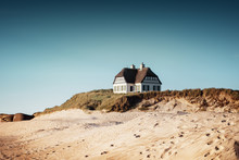 Vacation Home On The Beach Is The Perfect House To Spent The Summer At The Beach. Løkken In North Jutland In Denmark, Skagerrak, North Sea