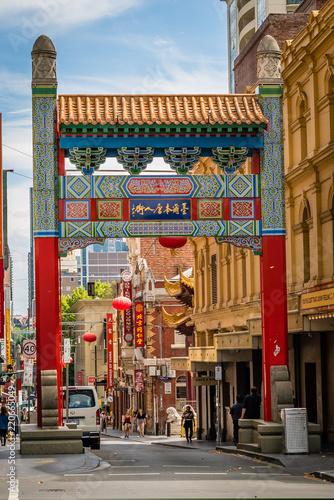 Fototapeta Architektura Chinatown w Melbourne, Australia XXL