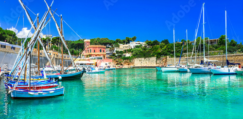Marina Tricase - beautiful fishing village in Puglia - popular place for summer holidays in Puglia, Italy