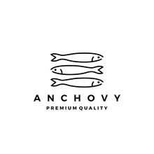 Anchovy Fish Logo Vector Icon ...