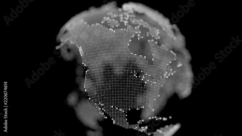 fototapeta na ścianę 3d render digital Earth. USA. America