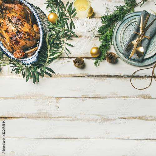 Fotografie, Obraz  Christmas or New Year celebration table setting