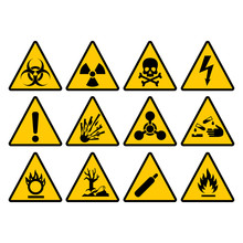 Warning Yellow Triangle Sign S...