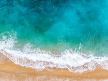Sea waves View From The Drone. Spain 2018, August