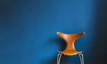 Danish Design On Blue Background