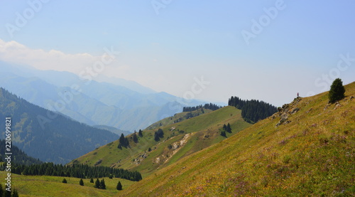 Almaty mountains summer landscape