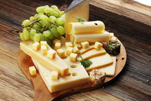 Cheese Platter With Different ...