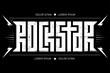 Rock Star - Typography for t-shirt Design or Poster. Rockstar - Artwork for concert.