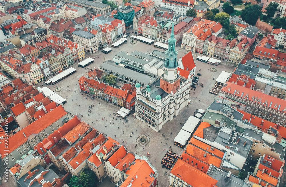 Fototapety, obrazy: Poznań z lotu ptaka