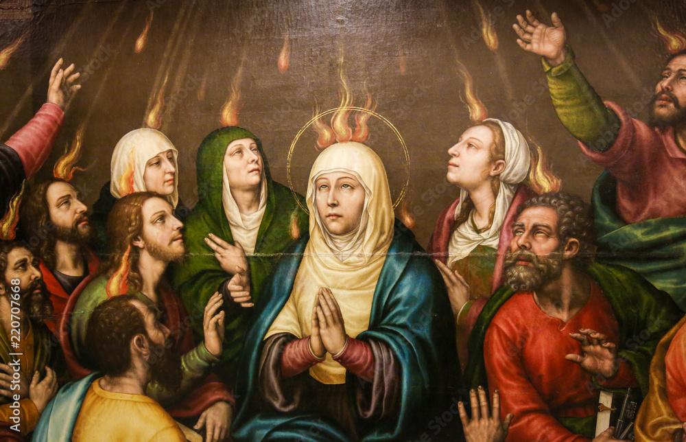 Valokuva  Mary and the Apostles at Pentecost