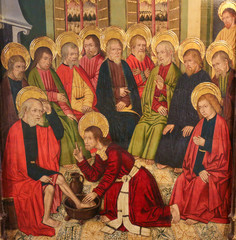 Jesus Christ washing the Feet of the Apostles at the Last Supper