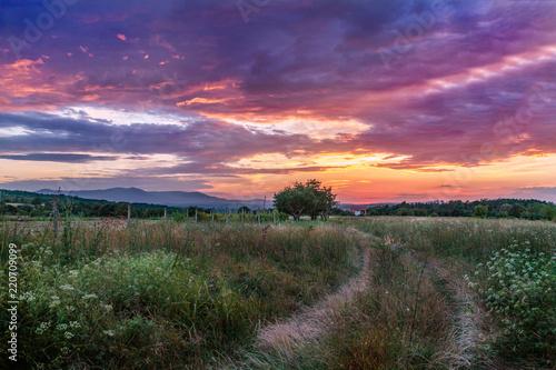 Countryside sunset