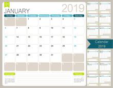 English Calendar 2019 / Englis...