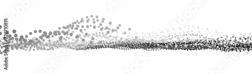 Wave 3d. Wave of particles. Futuristic point wave. Design for poster. Technology vector background. Vector illustration. - 220710891