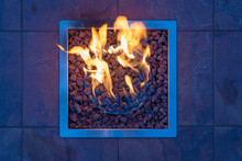 Gas Fire Place With Gravel In ...