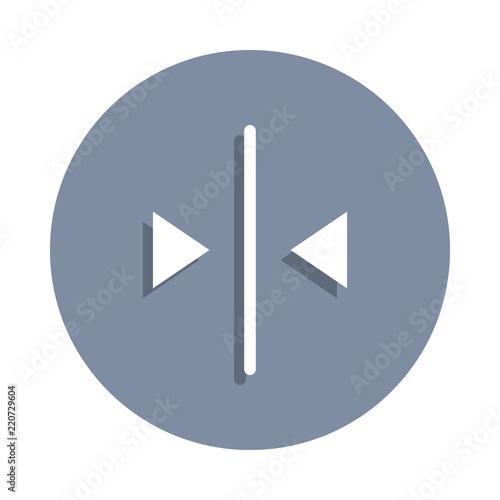 Fotografia  line allocation icon in badge style