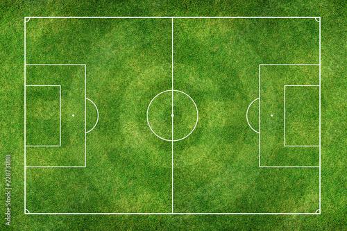 Photo  Green Football Stadium field
