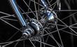 Leinwandbild Motiv Radnabe Fahrradachse Speichen